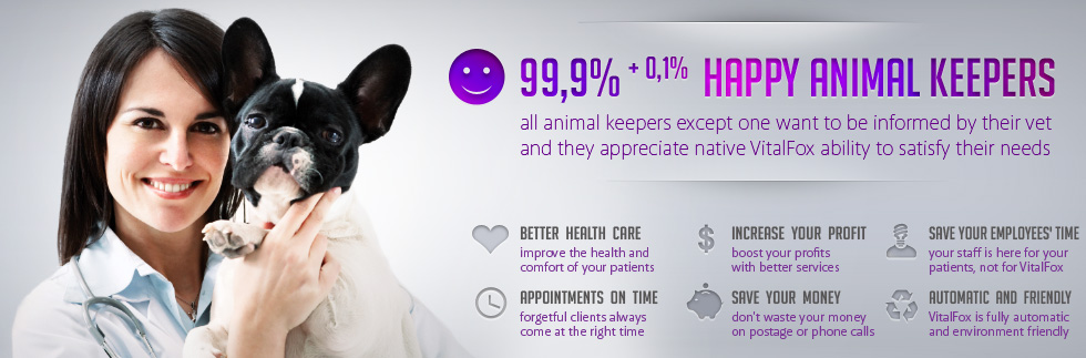 VitalFox - better health care, appointments on time, increase your profit, save your money, save your employees time, automatic and friendly